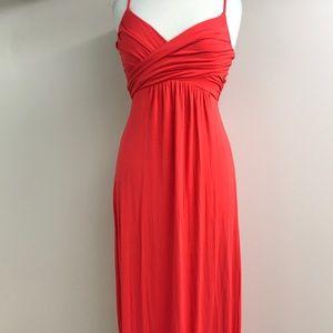 Tart red maxi dress small